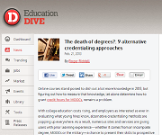 EducationDive screenshot